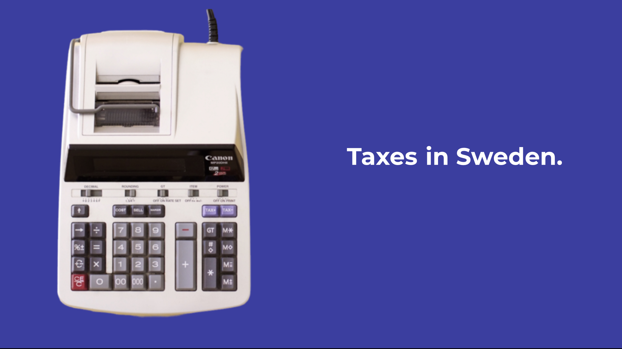 Taxes in Sweden